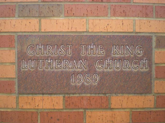 Christ the King Lutheran Church Corner Stone 1989 Salina Ks